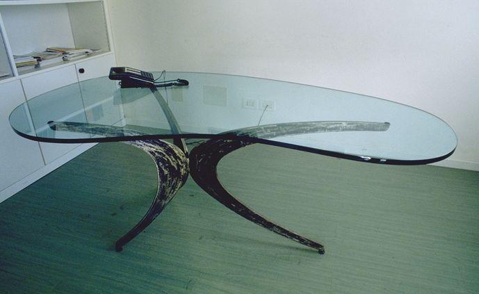 Architetto ciro ruggiero oggetti tavoli e sgabelli - Base per tavolo cristallo ...
